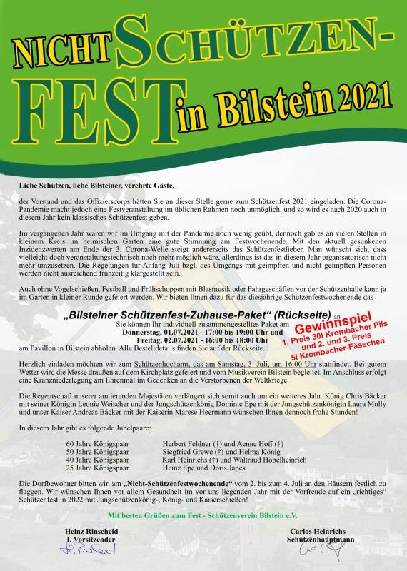 Nicht Schützenfest in Bilstein 2021